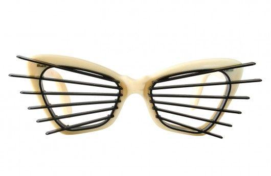 "Ivory ""Sun-Slatz"" Vintag Cat eye Sunglasses"