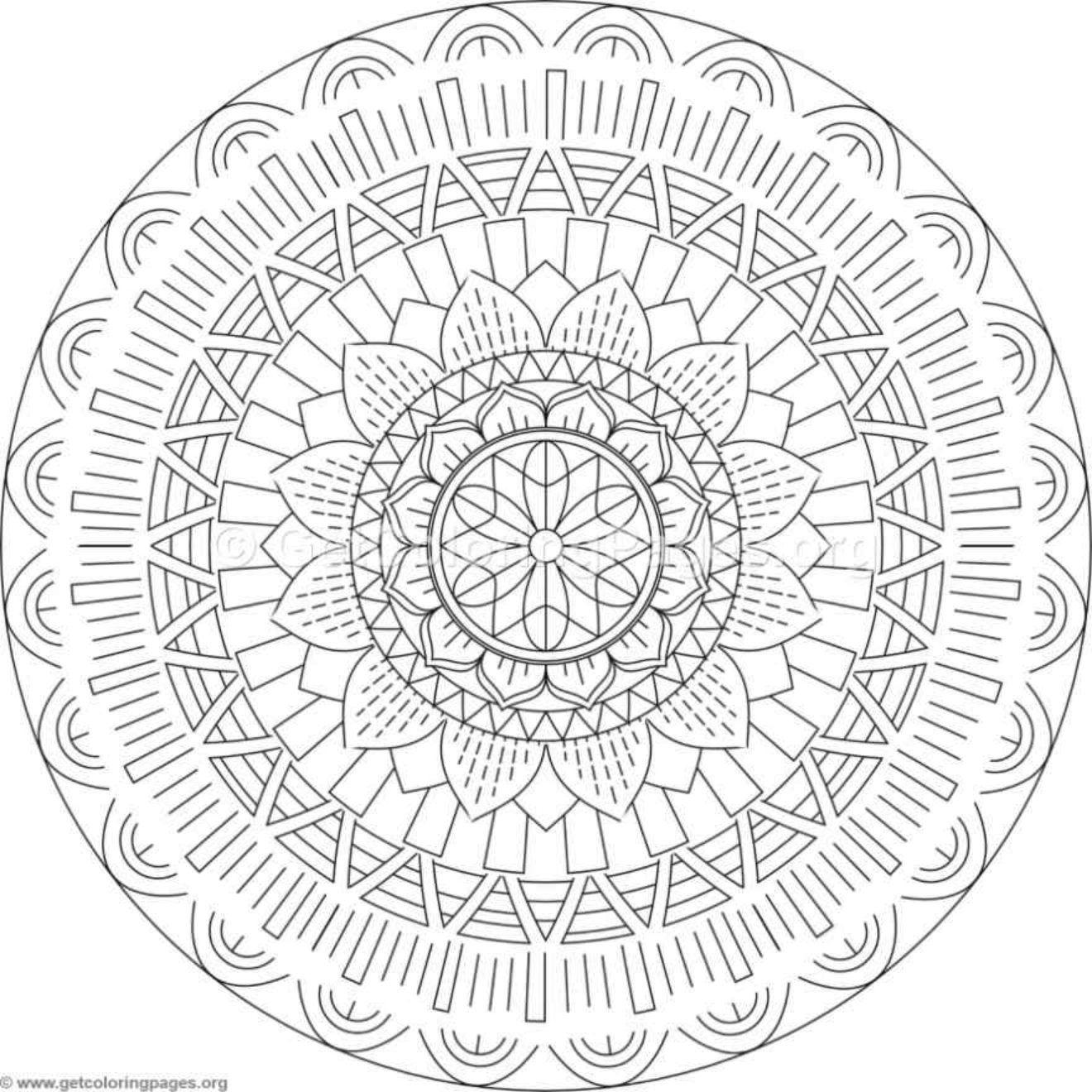 kleurplaat cirkels voor volwassenen
