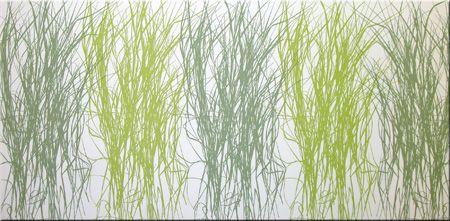 Beau Marimekko U0027Heinau0027 Fabric Wall Art In Lime Green, Olive Green And White  120x60x4cm