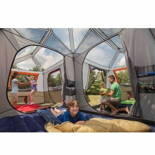 Family Size Tent Instant C&ing Cabin Huge Large Oversized Sleeps 12 Person  sc 1 st  Pinterest & Family Size Tent Instant Camping Cabin Huge Large Oversized Sleeps ...