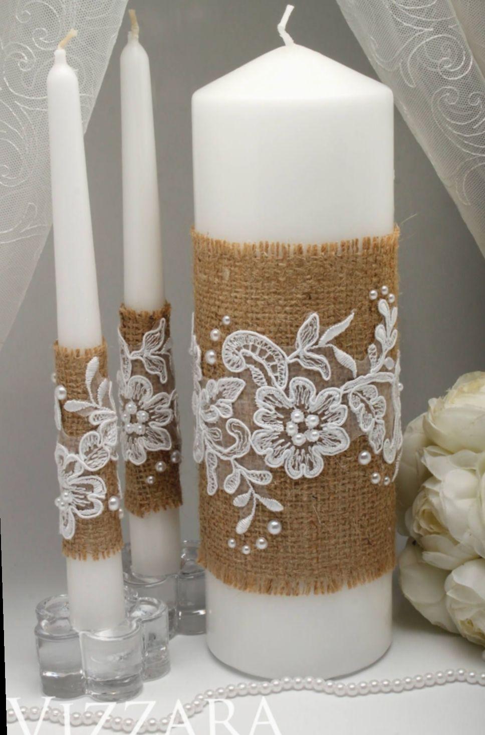 21 Diy Wedding Candles Ceremony Decoration Table Mariage Champetre Bougies Decorees Artisanats Magiques