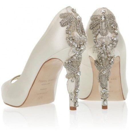 76e4c80ec8df Lady  freyarose  swarovski  crystal  heeldetail  weddingshoes  bridalshoes   couture  embellished  weddinginspiration  bridalinspiration  weddingideas
