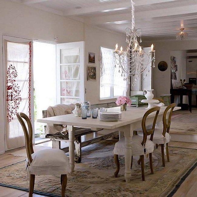 Shabby Chic Stil Esszimmer Kronleuchter Sitzbank C Aromatic Dining