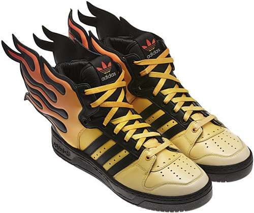 3aa118ec0ca8f Adidas  Jeremy Scott Flame Shoes Sets Your Feet on Fire  JeremyScott   Fashion