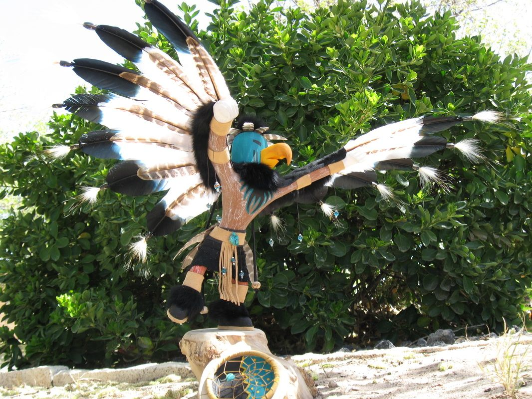 Soars on dreams, woodcarving by Bobby Johnson Jr www.bigbearsartstudio.com