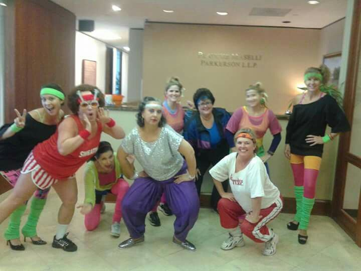 Halloween Costume Theme Ideas For Office.Group Costume Theme 80 S Workout With Richard Simmons Costumes In