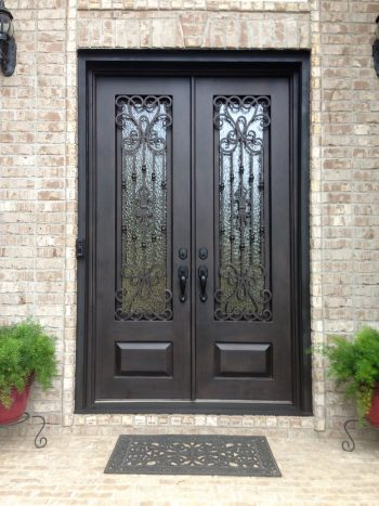 Wrought Iron Entry Systems In Atlanta Ga Jennifer S Glass Works Stained Glass Door Iron Doors Wrought