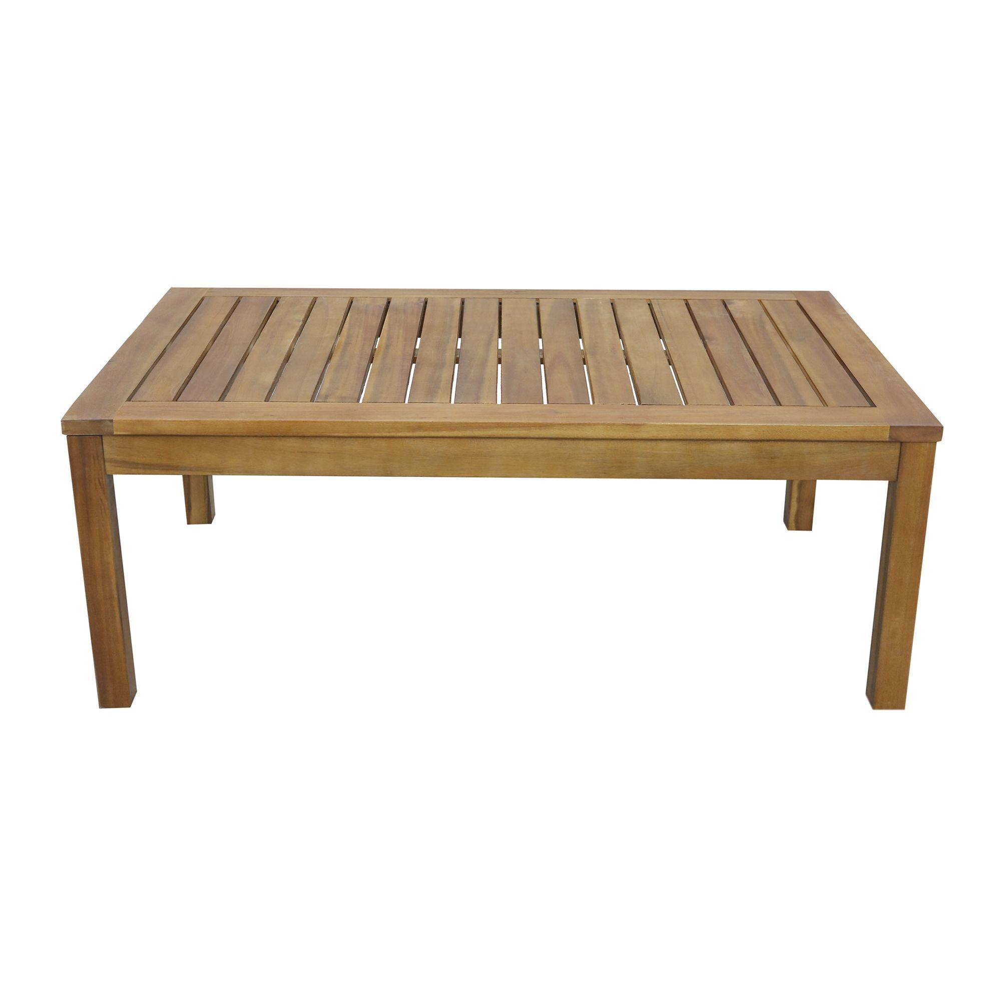 Table Basse De Jardin Rectangulaire Naturel Cocoon Les