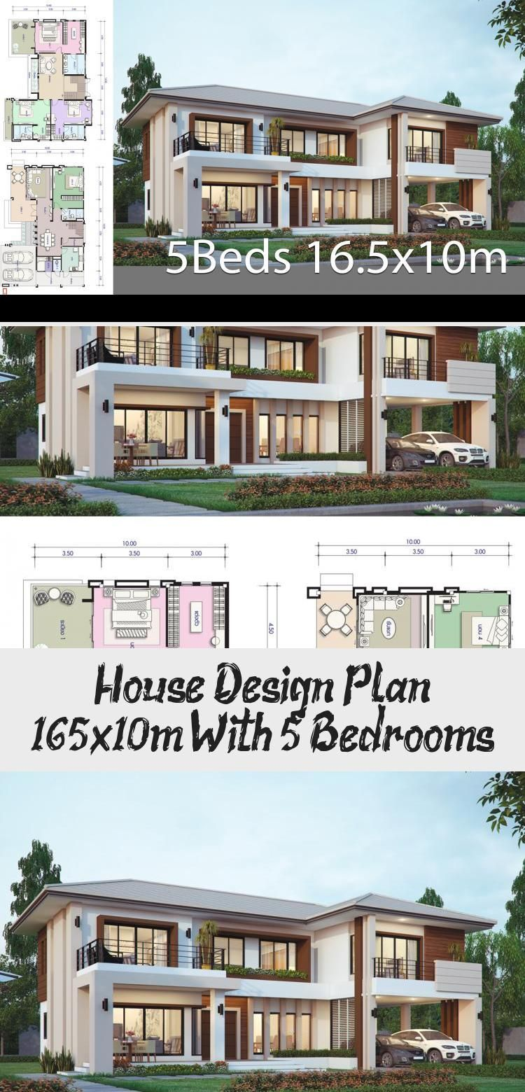 House Design Plan 16 5x10m With 5 Bedrooms Home Design With Plansearch Rustichouseplans Barn In 2020 Home Design Plans Simple House Plans Mediterranean House Plans