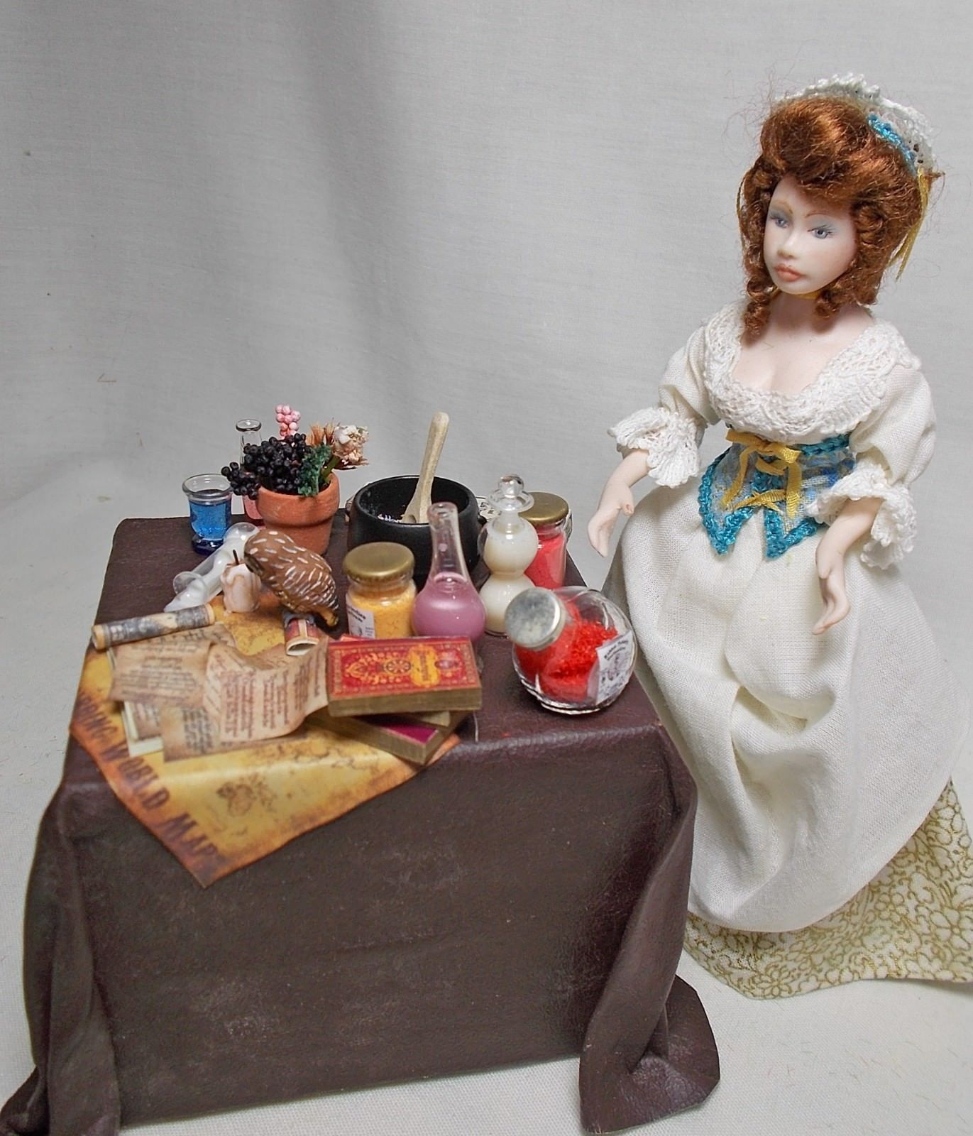 Dollhouse Automaton Moving Rotating Spoon In Cauldron Potion Filled