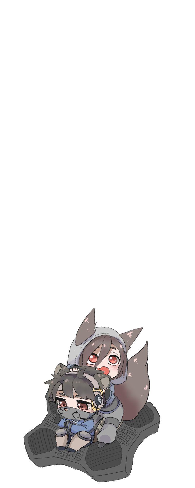 Chibi Fox Hibana Cat Echo Ride Echo S Yokai Rainbow Six Siege