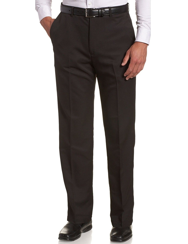 Men S Big Tall Cool 18 Hidden Expandable Waist Plain Front Pant Black Cn12du3ud25 Mens Dress Pants Men Dress Mens Pants [ 1500 x 1154 Pixel ]
