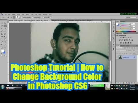 photoshop tutorial how to change background color in photoshop cs6