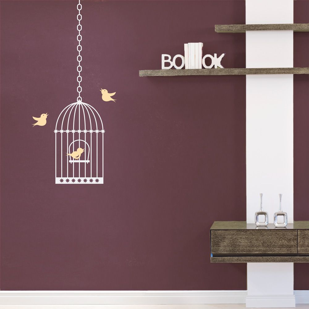 Birdcage for kitchen wall #walldecal