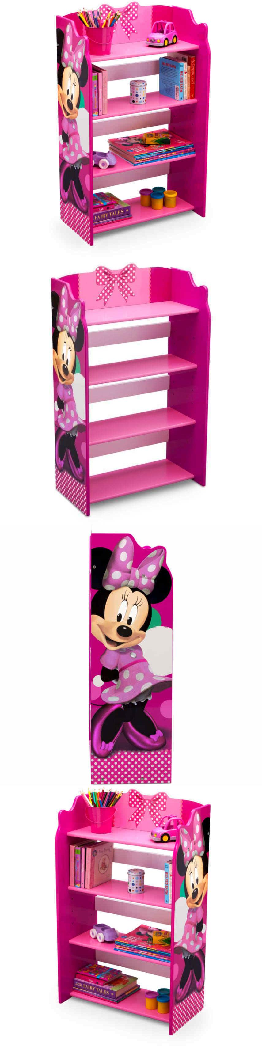 Toy Boxes 94932: Disney Bookshelf Toy Organizer Minnie Mouse Kid Cubby Book  Bin Storage Furniture