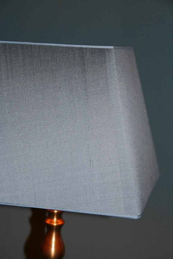 ijsblauw zijden kap in vierkant model
