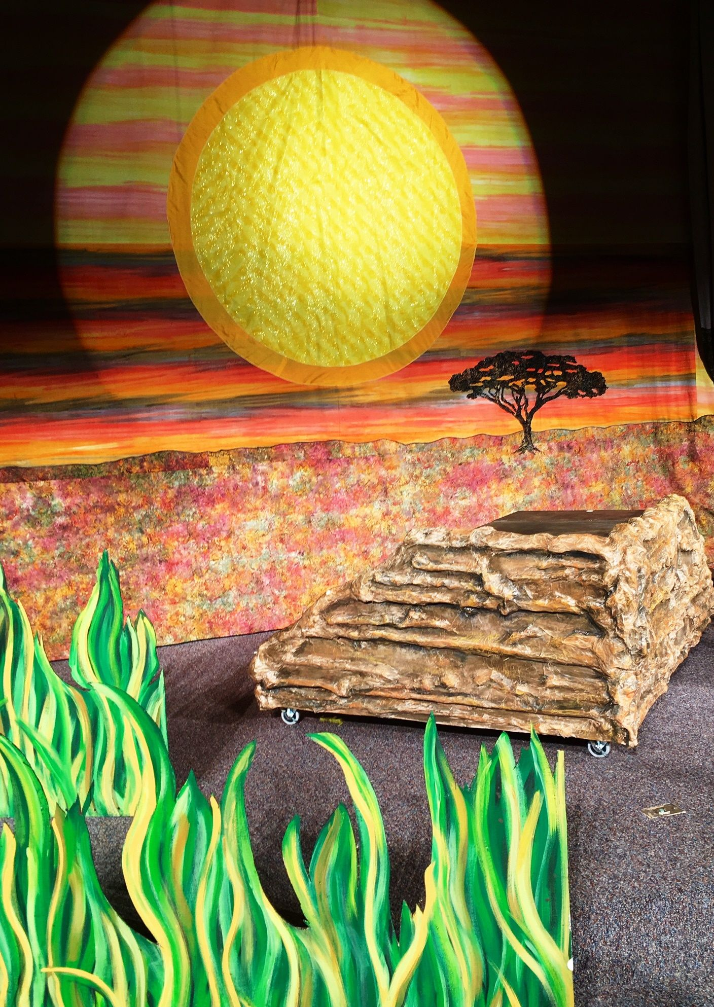 b6bc97d7143d Lion King Jr set complete with backdrop, Pride Rock and grass lands.  Available for rental from Give 'Em Props Studio, LLC. Contact us for more  information. ...