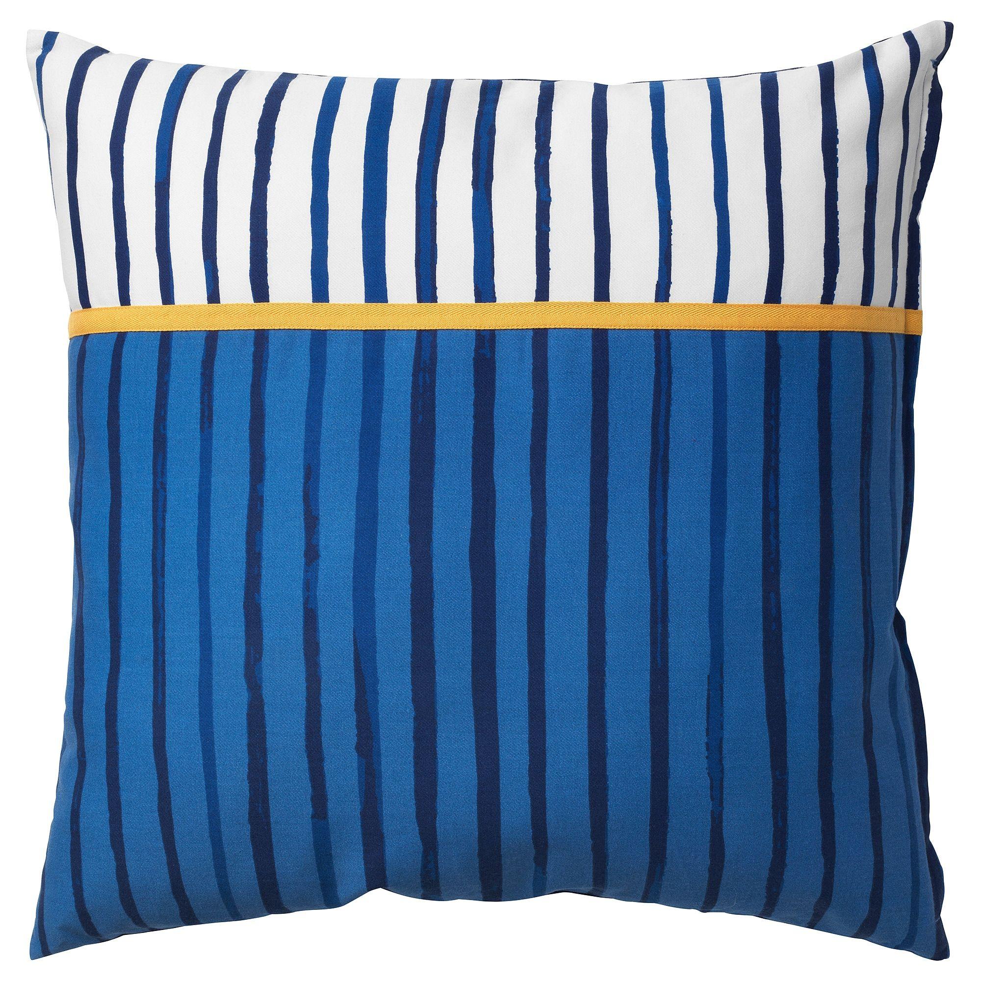 Sanglarka Cushion Stripe Blue Orange 20x20 Childrens Cushions Cushions Ikea