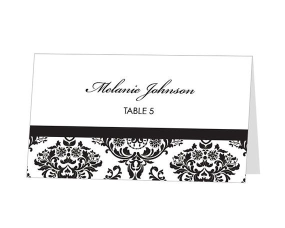 Instant Download Avery Place Card Template Damask Design Via Etsy Free Place Card Template Place Card Template Wedding Place Card Templates