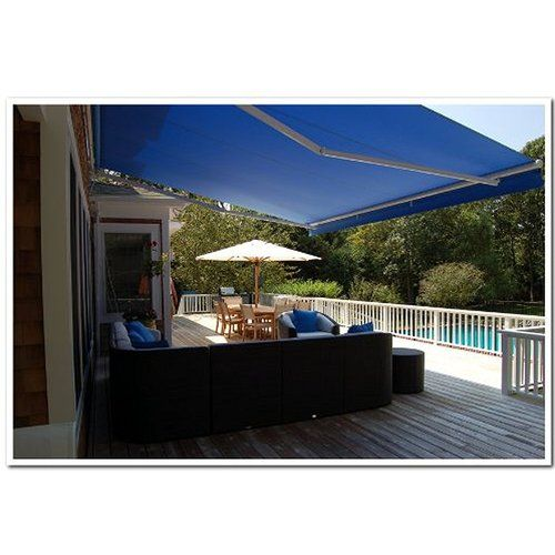13 Ft W X 8 Ft D Fabric Retractable Standard Patio Awning Patio Awning Patio Design Patio