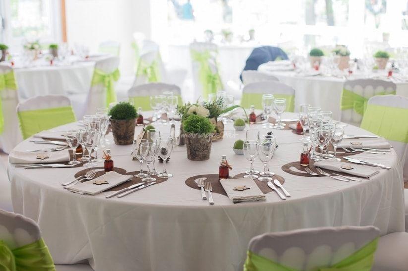 Types de tables pour la réception