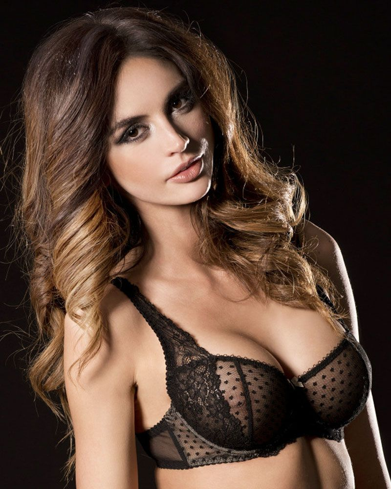 a34b670296 Check out the deal on CAPRICE ROSALINE SHEER LACE DEMI CUP BRA (CP7042) at  Lavinia Lingerie