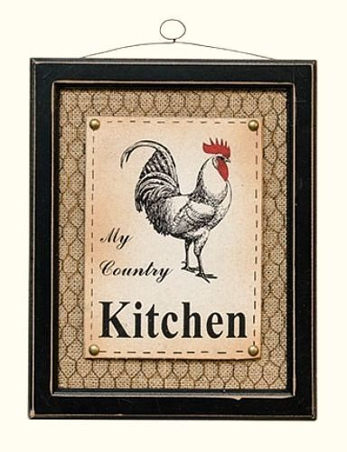 Country Signs Decor Gorgeous New Primitive Farmhouse My Country Kitchen Rooster Chicken Wire Inspiration