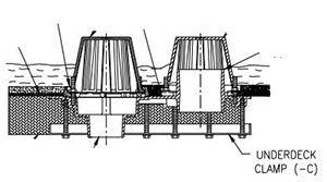 Zurn RD2130-C Underdeck Clamp | roofing | Roof drain