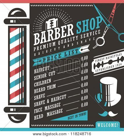 20++ Barber price list information
