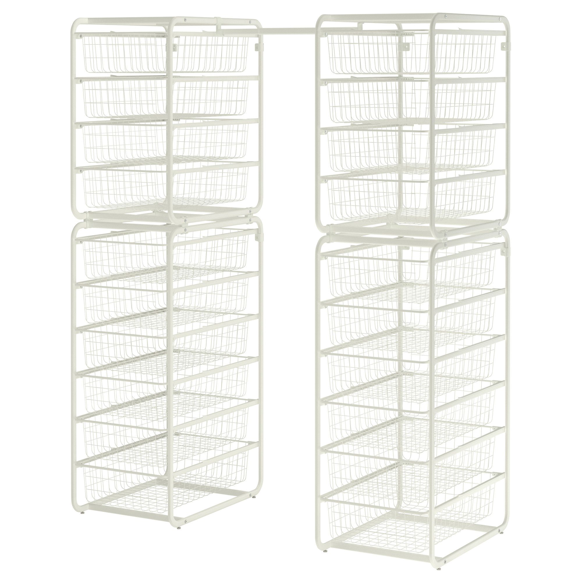 for more drawer space in the closet   algot frame  wire baskets  rod