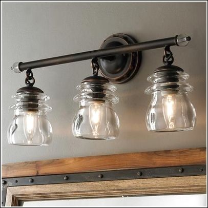 Farmhouse Bathroom Light Fixtures Extraordinary Farmhouse Bathroom Light Fixtures  Bathroom Lightning  Pinterest Inspiration Design