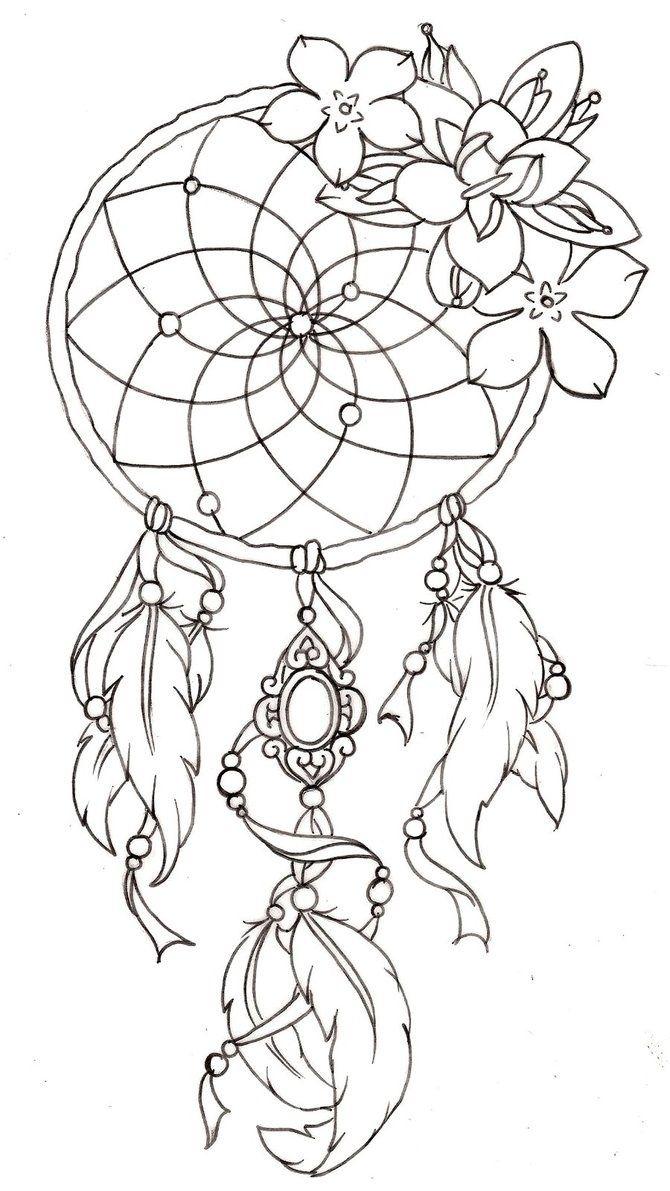 Love It Beautiful Atrapasuenos Dibujo Tatuajes Atrapasuenos Libro De Colores