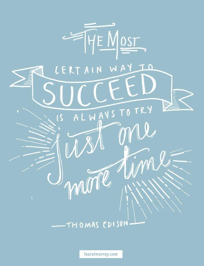 Thomas Edison inspiring quote |