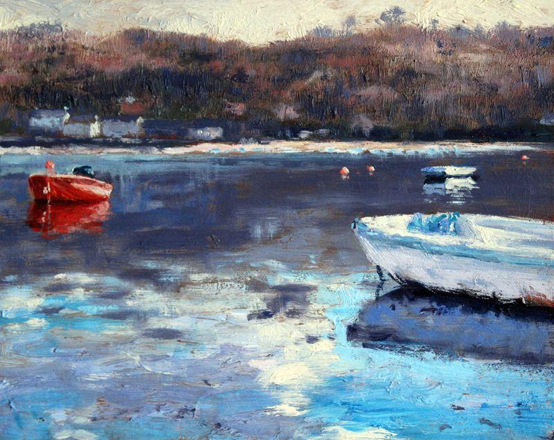 3 boats, Helford River. Andrew Barrowman