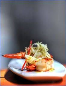 This is a great little appetizer bite that is clean yet full of flavor. The wild Florida white shrimp are amazing; they