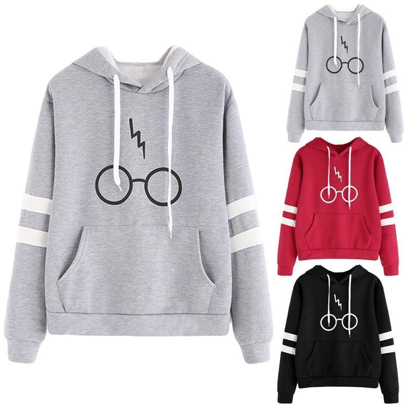Casual Harry Potter Glasses Hoodie Deathly Hallows Light Hip Sweatshirt New