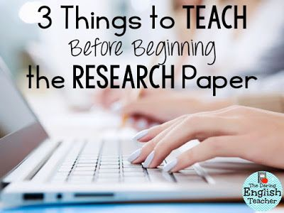 Teaching The Research Paper Part  Introducing The Research Paper