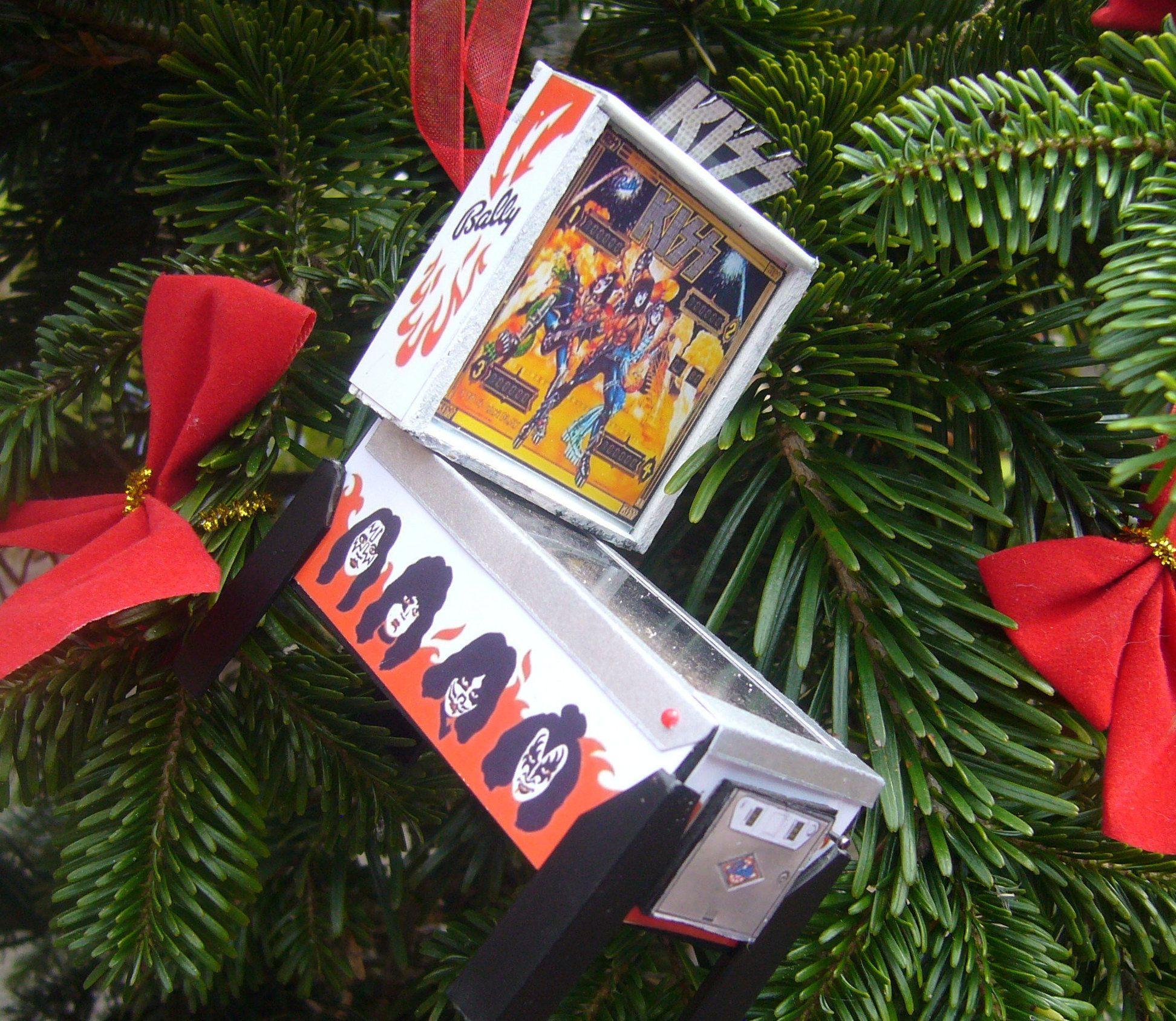 KISS Pinball Christmas Ornament Miniature Pinball Table scale model ...