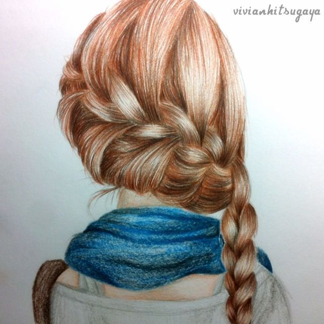 sketch of a girl's hair - Google Search | Drawing hair and ...