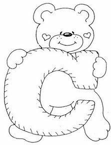 Letra C Dibujos De Letras Del Abecedario Para Colorear Letras Con Ositos Moldes De Letras Abecedario Infantil