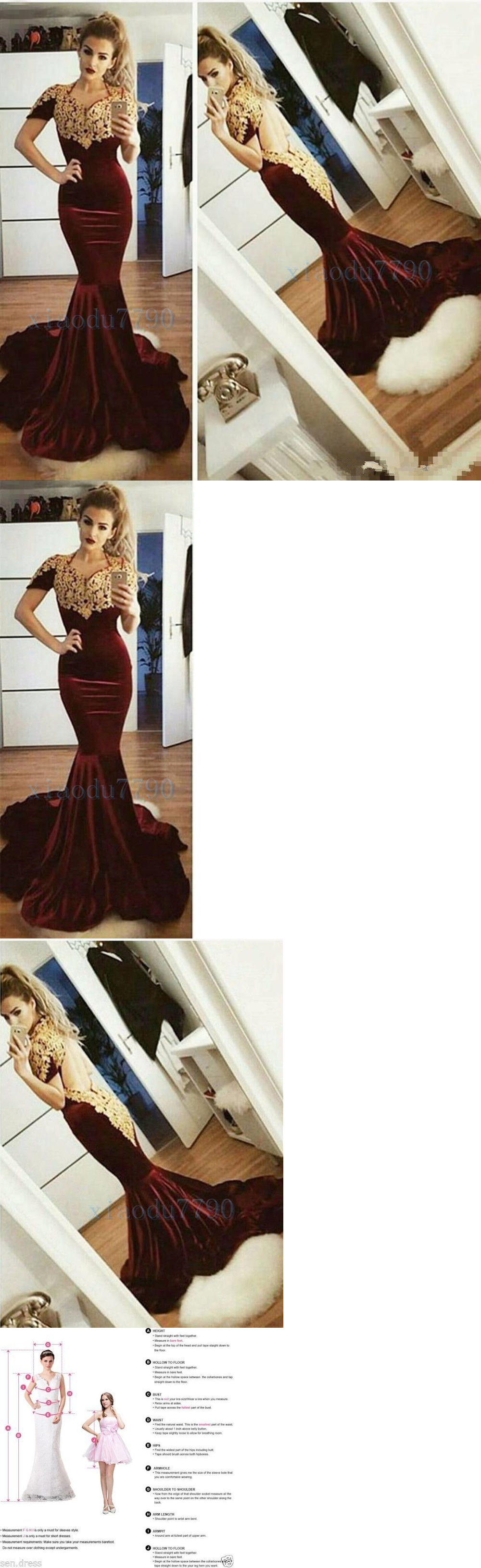 Prom and formal dresses long burgundy gold lace bridesmaid evening