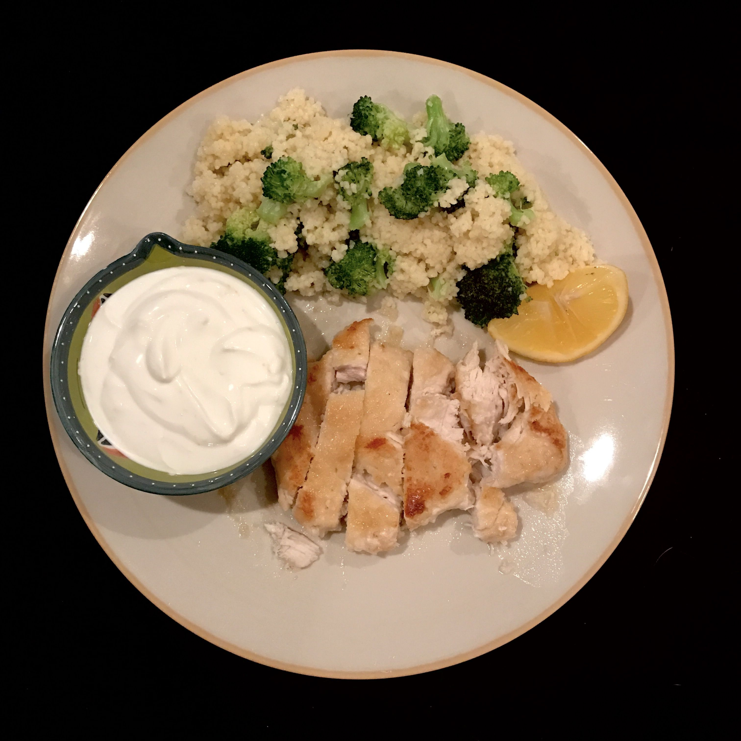 Blue apron broccoli - Seared Chicken Couscous With Broccoli And Lemon Yogurt Sauce Blueapron