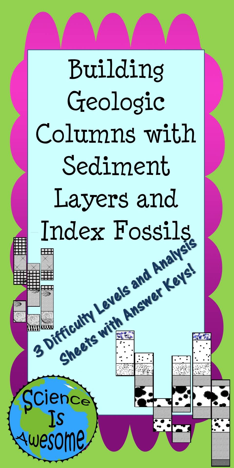 Earth Science Building Geologic Columns with Sediment