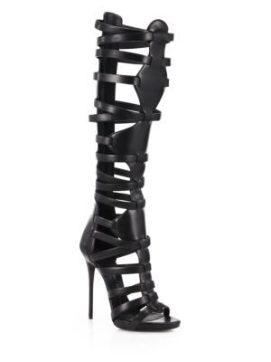 Sophia Webster - Clementine Leather & Suede Lace-Up Sandal Boots - Saks.com