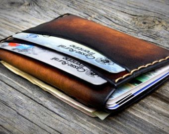 MINIMAL Leather Wallet for Men. 6 Credit card Pockets by Odorizzi