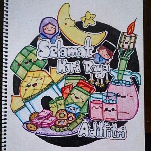 Selamat Hari Raya Aidilfitri Cute Doodle Art Cartoon Pics Cute Doodles