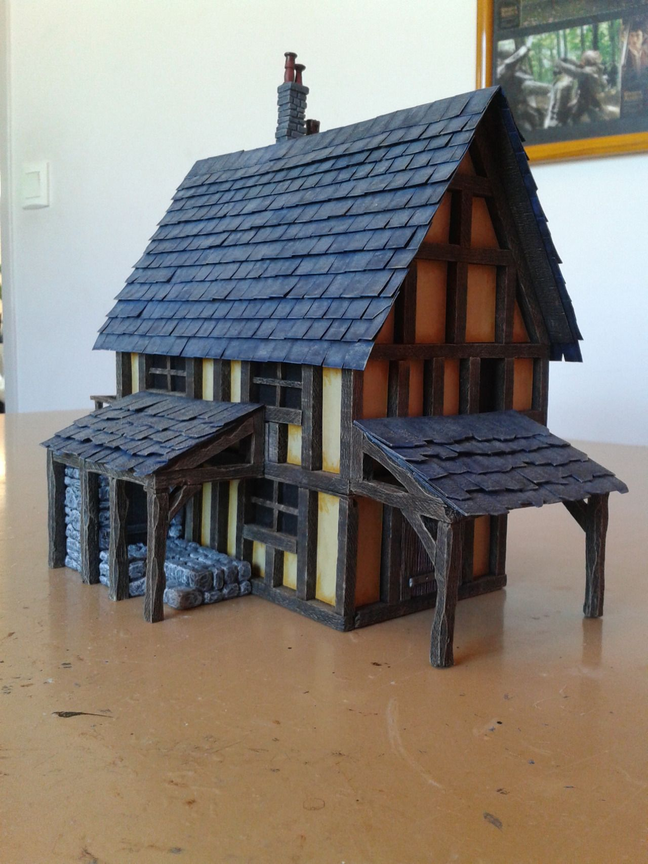 Medieval House - 28mm Building - Tabletop - Terrain