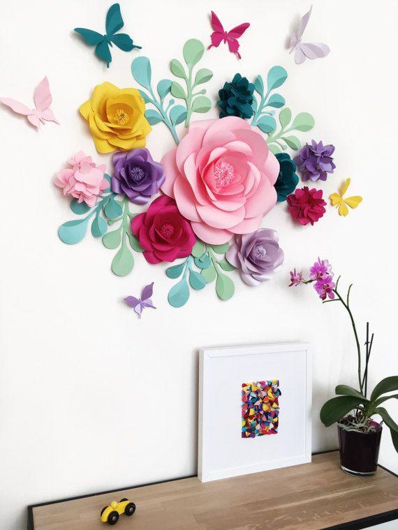 Habitaci n de beb ducha partido decoraci n flores de for Decoracion duchas