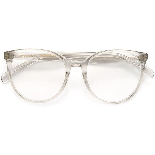 d56cafb159 Céline Eyewear round frame glasses (1 290 PLN) ❤ liked on Polyvore  featuring accessories