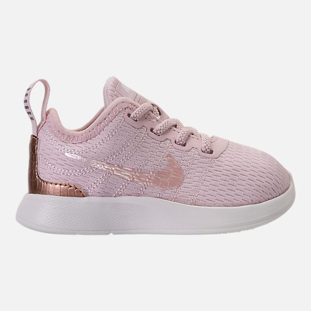 f90296d838ff Right view of Girls  Toddler Nike Dualtone Racer Casual Shoes in Barely Rose  Metallic Red Bronze